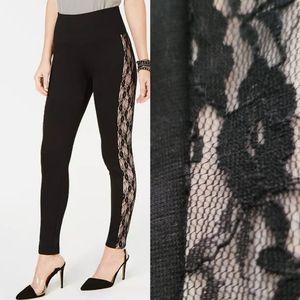 I.N.C- Shaping, Lace-Stripe Leggings   sz. Med